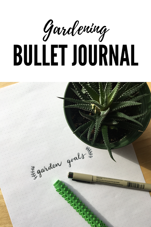 Gardening bullet journal template