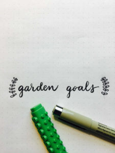 gardening bullet journal garden goals bug
